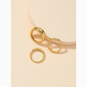 3/$30 Gold Dome Midi Knuckle 3 Ring Set