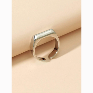 3/$30 Silver Rectangle Bar Cuff Ring