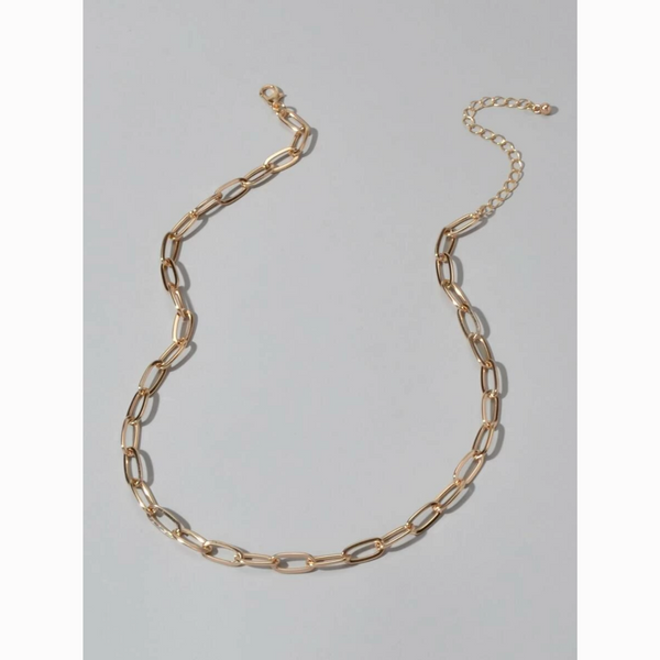 Minimalist Dainty Gold Chain Link Choker Necklace