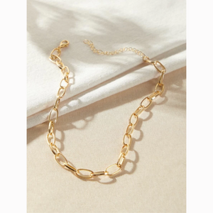 Dainty Gold Chain Choker Statement Necklace