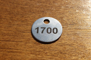 20 Gauge 1 Inch Stainless Steel Tags