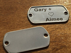 Custom Two Hole Dog Tags