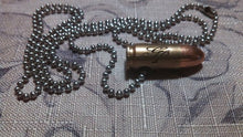Load image into Gallery viewer, 9mm Bullet Monogram Necklace