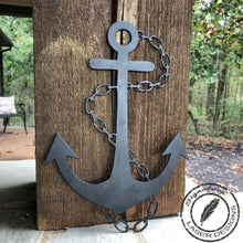 Load image into Gallery viewer, Anchor Wall Art 16 Gauge Metal Powder Coated Indoor or Outdoor Sign