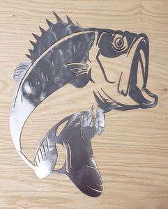 Bass Fish Metal Art - Indoor or Outdoor