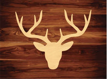 Load image into Gallery viewer, Deer Head Wood Cutout Decor