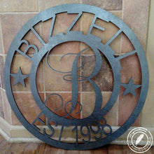 Load image into Gallery viewer, Family Monogram Wood Sign