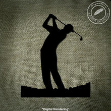 Load image into Gallery viewer, Golfer Metal Wall Art 16 Gauge Powder Coated Golf Indoor or Outdoor Sign