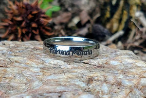 Stainless Steel Ring Customized with Saying