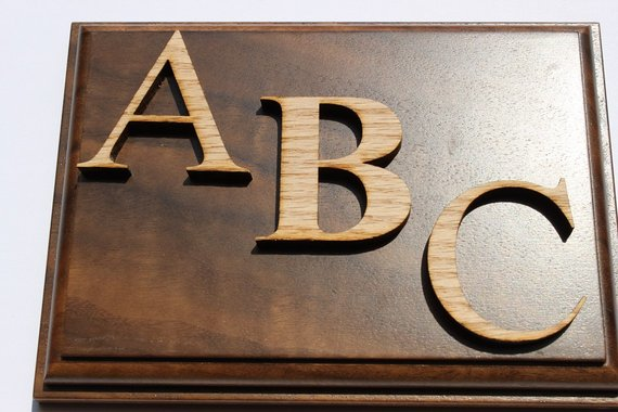 Wood Letters Unfinished Solid Red Oak