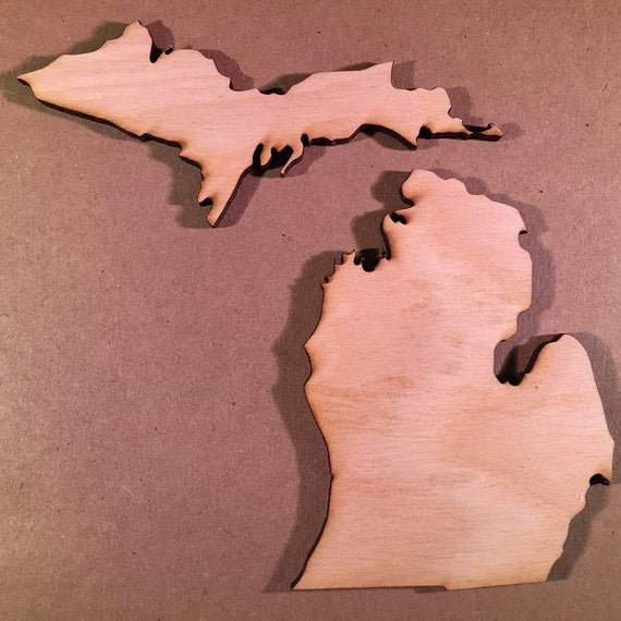 Michigan Wood Cutout MI Wood Cutout