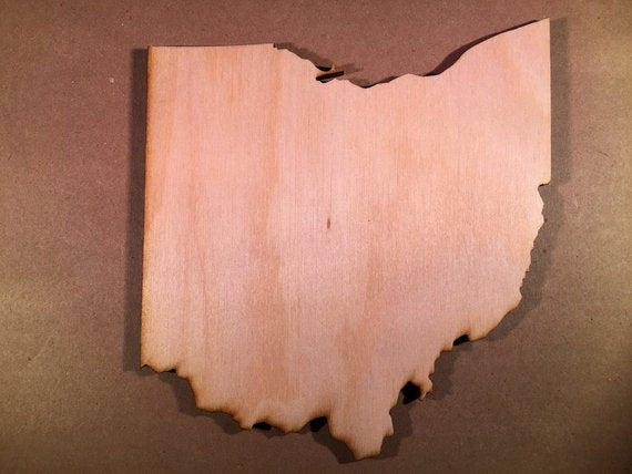 Ohio Wood Cutout