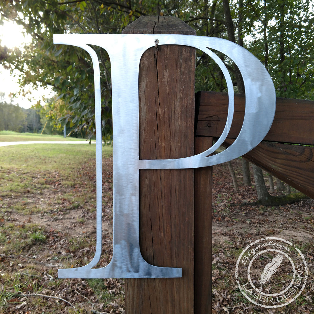 Single Letter Metal Wall Art - Indoor or Outdoor - Powder Coated Signs