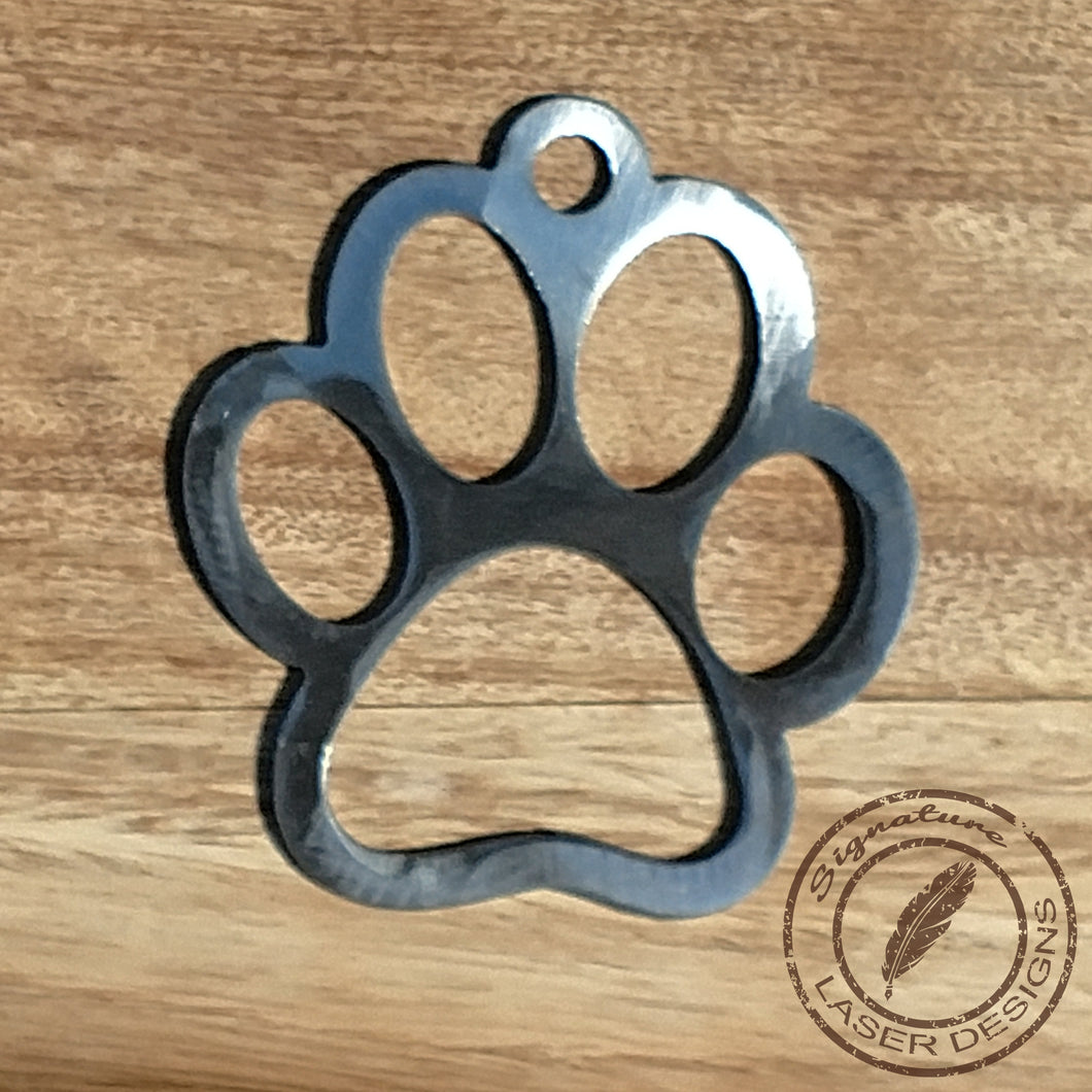 Paw Print Wall Art 16 Gauge Powder Coated Indoor or Outdoor Sign