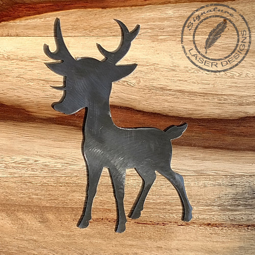Rudolph Metal Wall Art 16 Gauge Powder Coated Indoor or Outdoor Sign