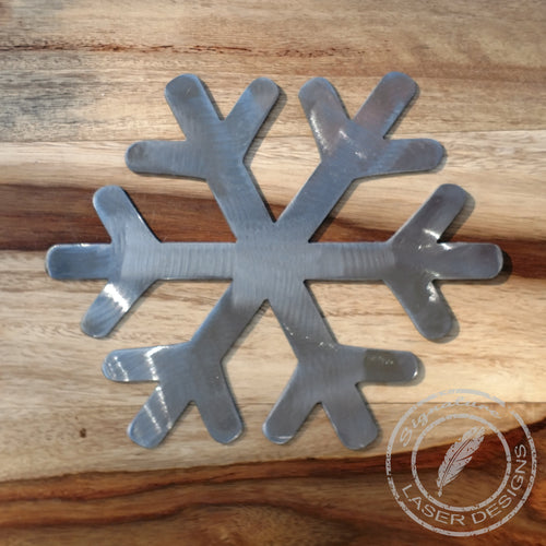Snowflake Metal Wall Art 16 Gauge Powder Coated Indoor or Outdoor Sign