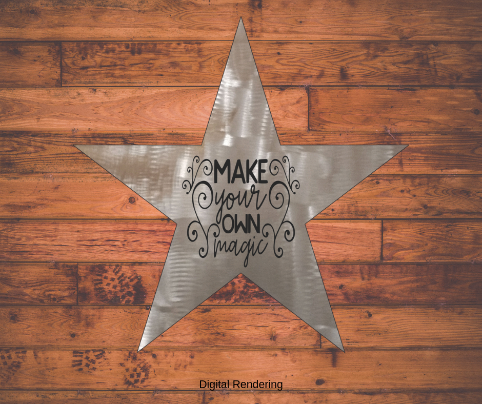 Make Your Own Magic Star Metal Art