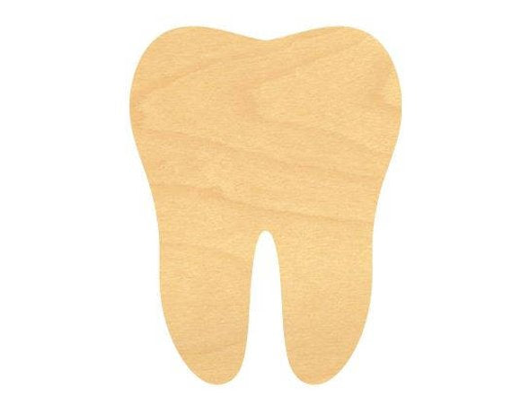 Tooth Wood Cutout