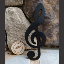 Load image into Gallery viewer, Treble Clef Metal Wall Art 16 Gauge Powder Coated Indoor or Outdoor Sign