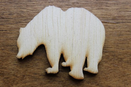 Grizzly Bear Wood Cutout