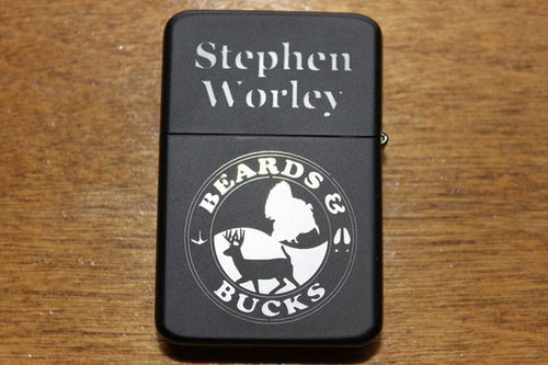 Beards and Bucks Personalized Gift Lighters