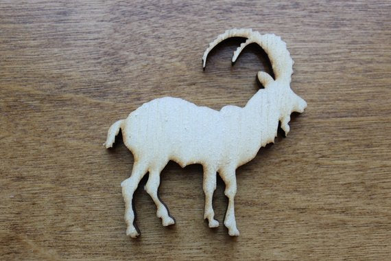 Billy Goat Wood Cutout