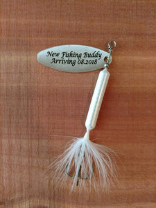 It's a Boy - New Fishing Buddy Arriving - Personalized Fishing Lure