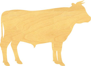 Bull Wood Cutout Sign or Shapes