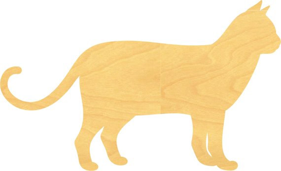 Cat Wood Cutout