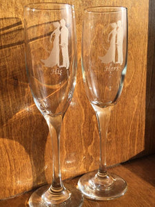 Champagne Flutes - Wedding