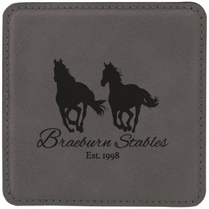 Custom Leatherette Coasters in Square or Round Design