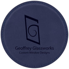 Load image into Gallery viewer, Custom Leatherette Coasters in Square or Round Design