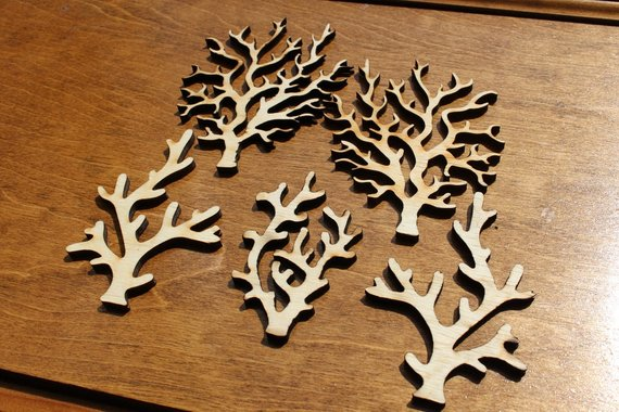 Coral Wood Cutout Set