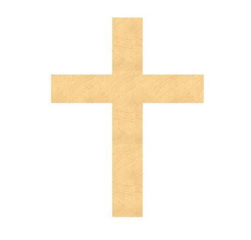 Wood Cross Cutout