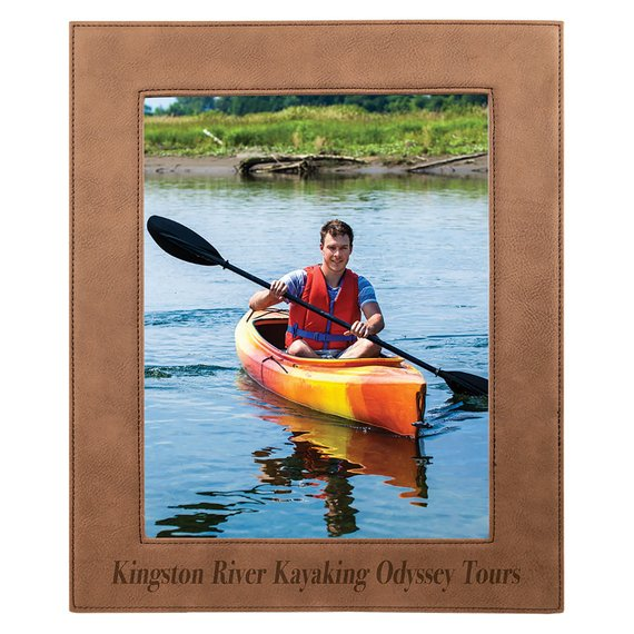 Dark Brown Leatherette Picture Frame Customized