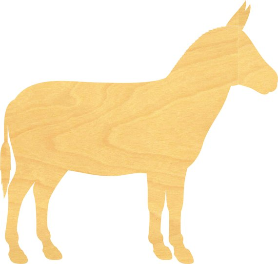 Donkey Wood Cutout Donkey Sign