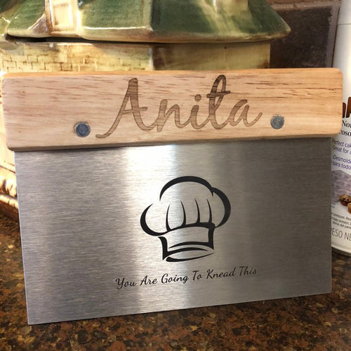 Dough Cutter Baker Gifts Personalized Wooden Handle