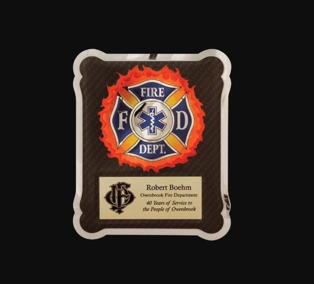 Firefighter Medical EMT Award for Retirement or Other Achievement