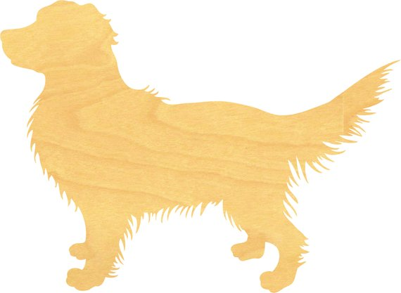 Golden Retriever Wood Cutout