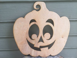 Goofy Pumpkin Plywood Wood Cutout