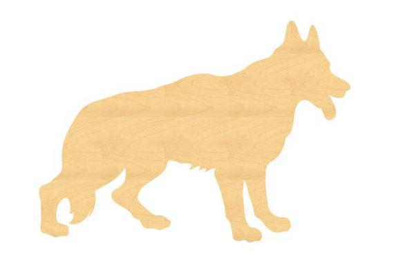 German Shepherd Wood Cutout