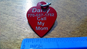 Heart Style Dog Tags for Pets