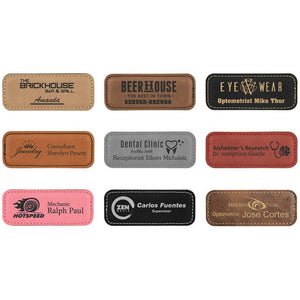 Leatherette Name Tag Choices