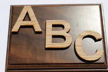 Load image into Gallery viewer, Wood Letters Unfinished Solid Red Oak