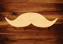 Load image into Gallery viewer, Mustache Wood Cutout