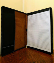 "Load image into Gallery viewer, 9 1/2"" x 12"" Laserable Leatherette Portfolio with Notepad"