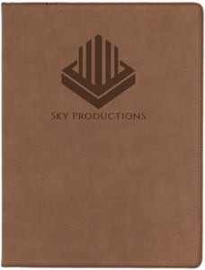 "9 1/2"" x 12"" Laserable Leatherette Portfolio with Notepad"