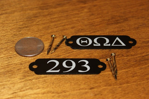 Mountable Anodized Aluminum Room Numbers Name Plates or Door Tags