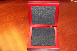 Metal Rosewood Finish Gift Boxes With Engraved Plate