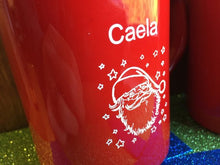 Load image into Gallery viewer, Santa Mugs Personalized Christmas Hot Chocolate Mug